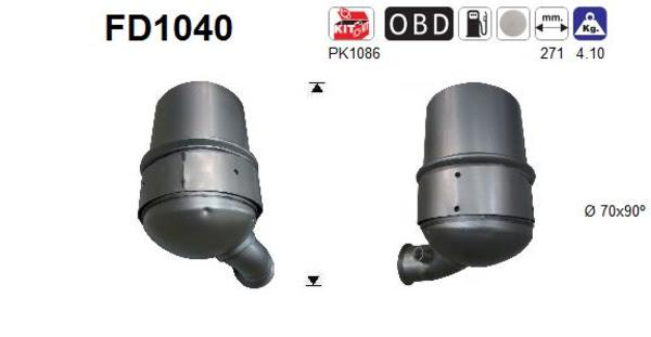 filtre a particules pour peugeot 308 4a 4c 1 6 hdi 92cv 68kw yakarouler. Black Bedroom Furniture Sets. Home Design Ideas