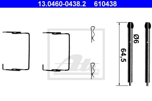 kit de montage plaquettes de frein ate x1 yakarouler. Black Bedroom Furniture Sets. Home Design Ideas