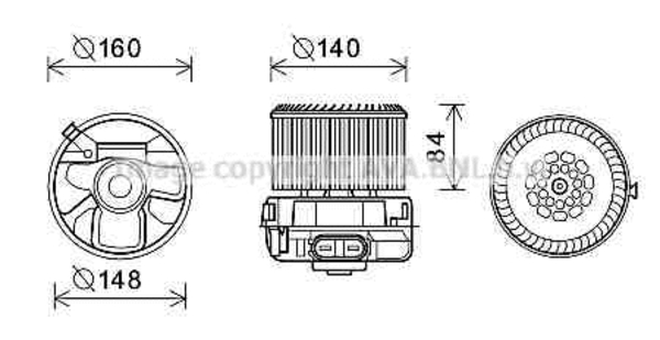 moteur de ventilateur de chauffage pour citro u00cbn c1 1 0