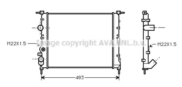 radiateur de refroidissement pour renault clio ii