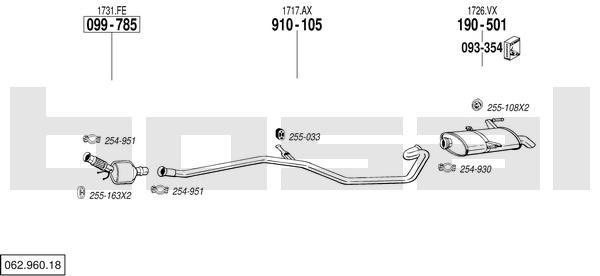 silencieux catalyseur intermediaire pour peugeot 206 sw 2 0 hdi 90cv 2e k 66kw yakarouler. Black Bedroom Furniture Sets. Home Design Ideas