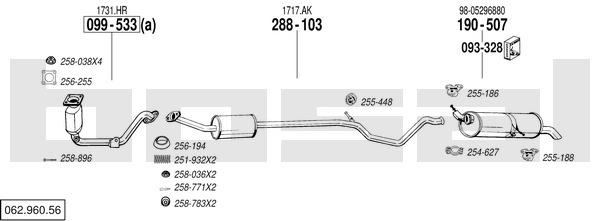 Bosal 256-194 Bague d/étanch/éit/é tuyau d/échappement