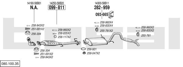 Bosal 282-959 Silencieux arri/ère