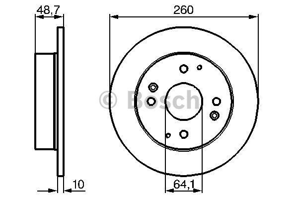 Disque de frein arriere BOSCH 0 986 478 172 (X1)