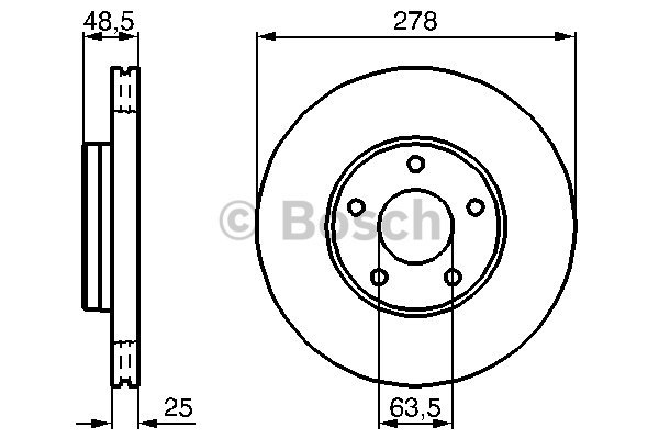disque de frein avant bosch 0 986 479 173 x1 yakarouler. Black Bedroom Furniture Sets. Home Design Ideas
