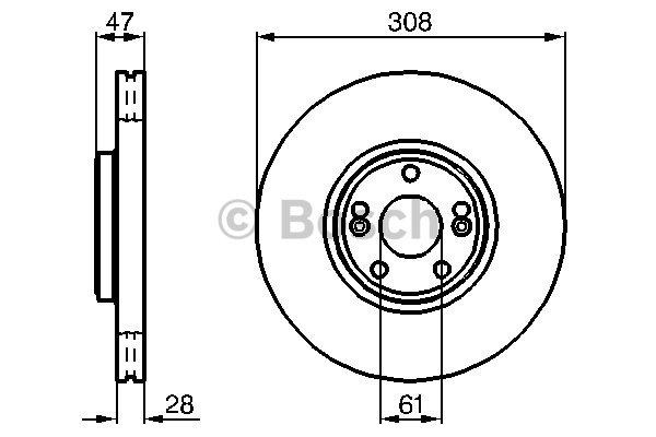 disque de frein avant bosch 0 986 479 198 x1 yakarouler. Black Bedroom Furniture Sets. Home Design Ideas