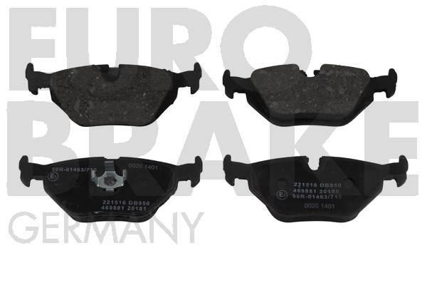plaquettes de frein arriere eurobrake 5502221516 jeu de 4 yakarouler. Black Bedroom Furniture Sets. Home Design Ideas