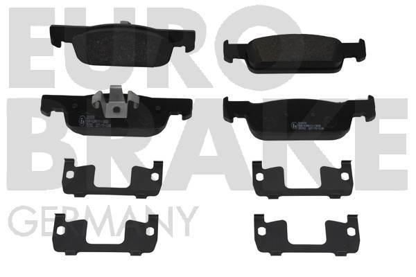 plaquettes de frein avant eurobrake 5502223970 jeu de 4 yakarouler. Black Bedroom Furniture Sets. Home Design Ideas