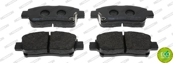plaquettes de frein avant ferodo fdb1368 jeu de 4 yakarouler. Black Bedroom Furniture Sets. Home Design Ideas