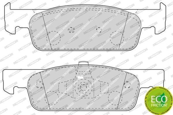 plaquettes de frein avant ferodo fdb4615 jeu de 4 yakarouler. Black Bedroom Furniture Sets. Home Design Ideas