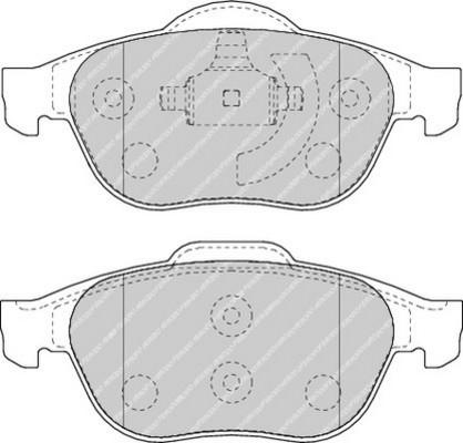 plaquettes de frein avant ferodo fdb1441 jeu de 4 yakarouler. Black Bedroom Furniture Sets. Home Design Ideas
