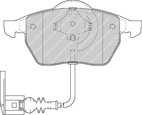 plaquettes de frein avant ferodo fdb1463 jeu de 4 yakarouler. Black Bedroom Furniture Sets. Home Design Ideas