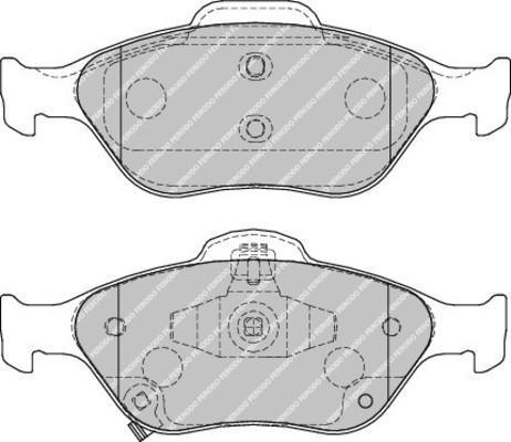 plaquettes de frein avant ferodo fdb1890 jeu de 4 yakarouler. Black Bedroom Furniture Sets. Home Design Ideas