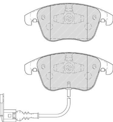 plaquettes de frein avant ferodo fdb4057 jeu de 4 yakarouler. Black Bedroom Furniture Sets. Home Design Ideas
