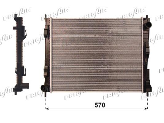 radiateur de refroidissement pour renault twingo ii 1 2
