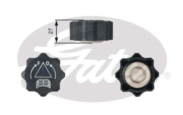 bouchon reservoir de liquide de refroidissement gates rc218 x1 yakarouler. Black Bedroom Furniture Sets. Home Design Ideas