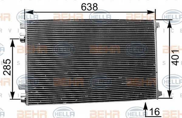 condenseur radiateur de climatisation hella 8fc 351 301. Black Bedroom Furniture Sets. Home Design Ideas