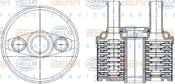 radiateur huile pour volkswagen jetta iii 1 6 tdi 90cv