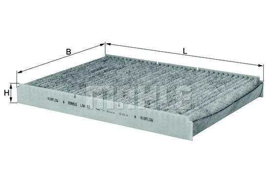 filtre d 39 habitacle knecht lak 63 x1 yakarouler. Black Bedroom Furniture Sets. Home Design Ideas