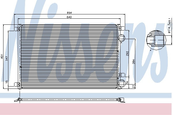 condenseur radiateur de climatisation nissens 94626 x1. Black Bedroom Furniture Sets. Home Design Ideas