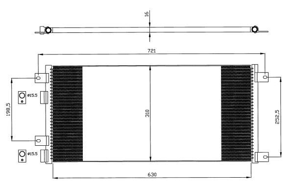 condenseur radiateur de climatisation nrf 35643 yakarouler. Black Bedroom Furniture Sets. Home Design Ideas