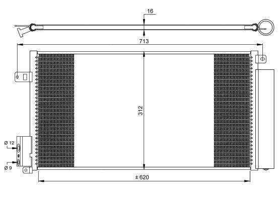 condenseur radiateur de climatisation nrf 35750 yakarouler. Black Bedroom Furniture Sets. Home Design Ideas