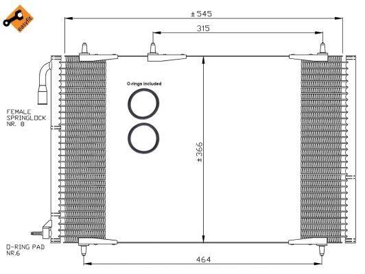 condenseur radiateur de climatisation nrf 35836 yakarouler. Black Bedroom Furniture Sets. Home Design Ideas