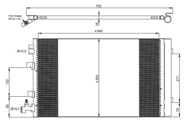 condenseur radiateur de climatisation nrf 35932 yakarouler. Black Bedroom Furniture Sets. Home Design Ideas