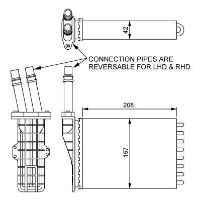 Radiateur de chauffage NRF 54245