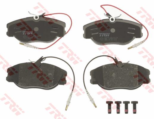 plaquettes de frein avant trw lucas gdb1148 jeu de 4 yakarouler. Black Bedroom Furniture Sets. Home Design Ideas