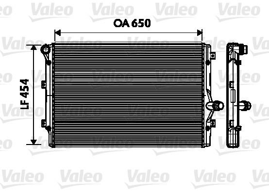 radiateur de refroidissement valeo 734333 x1 yakarouler. Black Bedroom Furniture Sets. Home Design Ideas