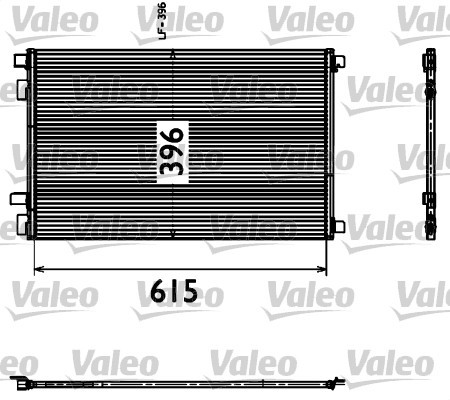 condenseur radiateur de climatisation valeo 817608 x1. Black Bedroom Furniture Sets. Home Design Ideas