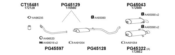 Veneporte pG45128 silencieux central